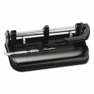 Swingline 32 sheet Lever Handle Two to seven hole Punch 9 32 Swi74350