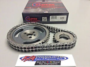 Cloyes 9 3100 Small Block Chevy Engine True 250 Roller 3 Keyway Race Timing Set