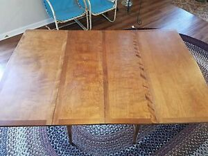 Haywood Wakefield Mid Century Drop Leaf Dining Table