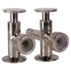 Sight Level Tri Clamp clover 1 5 1 1 2 Inch Valves Pair Sanitary 3 Pack