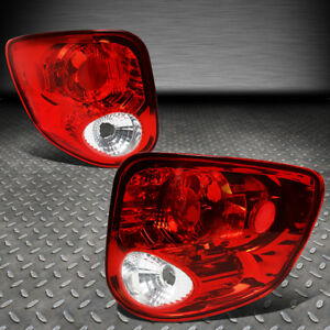 For 97 04 Ford F150 Heritage Flareside Pair Tail Light Brake reverse Lamps Red