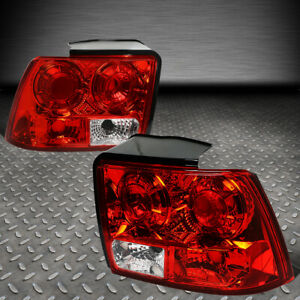 For 99 04 Ford Mustang Pair Red clear Lens Tail Light Brake parking reverse Lamp