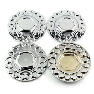 Set Of 4 Wheel Hub Center Caps 168mm 109mm For Bbs Rim 0924028 Chrome Silver