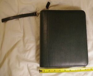 Franklin Covey Classic Verona Leather Planner Green Binder Organizer 2 7 Ring