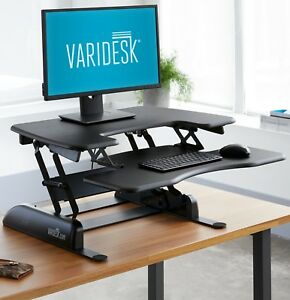 New Height adjustable Standing Desk Varidesk Pro Plus 30 Black
