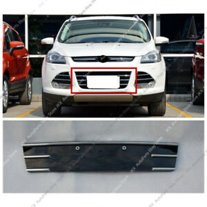 1pc Abs Chrome Front Bumper Middle Lower Grille Replace For Ford Escape 2013 16