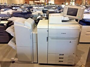 Canon Imagepress C60 Color Copier printer T1 Finisher Low Meter
