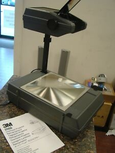 3m 2000 Portable briefcase Overhead Projector With Manual