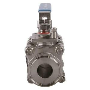 Sanitary Ball Valve Tri Clamp clover 1 Inch ptfe Ss316 3 Pack