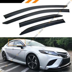 For 2018 2020 Toyota Camry Clip on Black Trim Window Visor Rain Guard Deflector