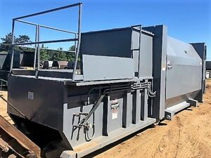 Self Contained Trash Compactor Pre crusher 20 Yd Marathon Rj 225hd Water Tight