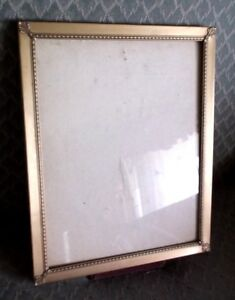Vintage Embossed Ornate Metal And Glass Picture Frame 10 X 8 Very Pretty