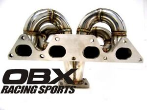 Obx T3 T4 Bottom Mount Turbo Header For 97 To 01 Honda Prelude Sh H23a1
