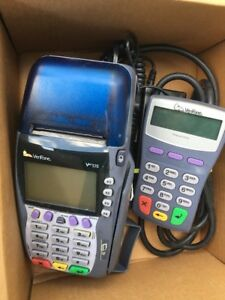 Verifone Vx570 Omni 5700 Credit Card Reader Terminal With Power Cord Working