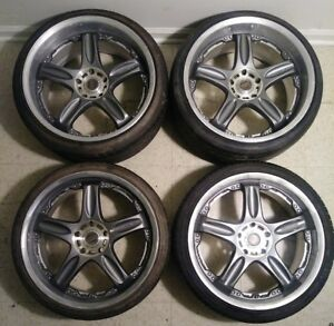 19 Volk Rays Gt C 5x114 3 Jdm Wheels Rare Rims Staggered Vintage Old School Vip