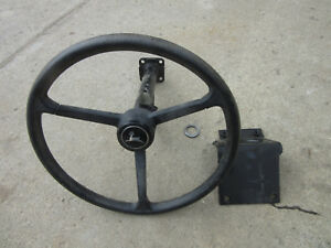 John Deere Steering Wheel And Column Backhoe Fits Many Others 310 410 485 486