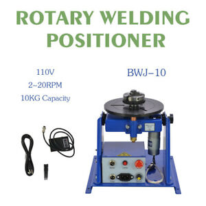 Updated Rotary Welding Positioner Turntable Table Mini 2 5 3 Jaw Lathe Chuck