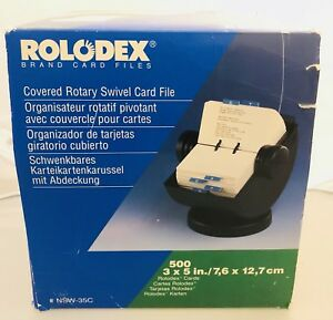 Rolodex Black Rotary Rotating Large Card Organizer In Great Condition Nsw 35c