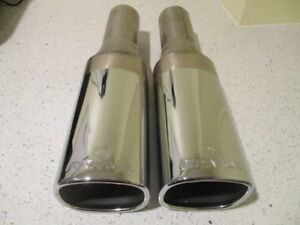 Remus Exhaust Muffler Tips Pair Universal Original Brand New Old Stock 92x72 Mm