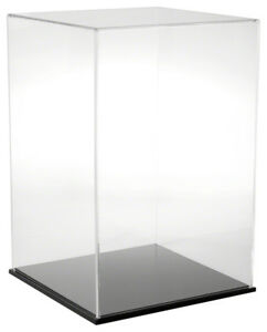 Plymor Acrylic Display Case With Black Base 12 W X 12 D X 18 H