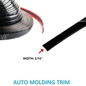 5 16 Black Molding Trim Car Front Grill Fender Decorate Strip W Adhesive 5feet
