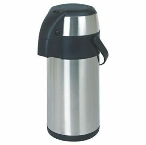 New 3l Litre Stainless Steel Pump Action Airpot Vacuum Flask Thermos Jug Air Pot