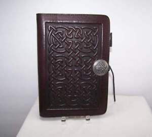 Oberon Leather Celtic Knot 6 Ring Organizer Binder Day Planner 5 25 X 7 5 Inch