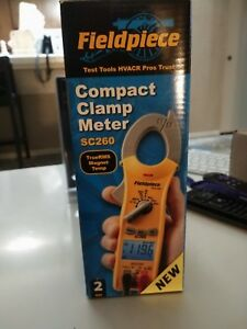 Fieldpiece Compact Clamp Meter Sc260 With Truerms Magnet Temp 2 Meter