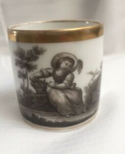 Antique 1810s French Old Paris Empire Cup