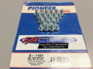 Big Block Chevy Ford 390 Pontiac Engines Oil Pan Bolt Set Pioneer S 1101