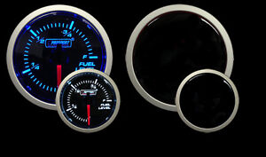 Prosport Gauges Performance Series Blue White Fuel Level Gauge 52mm 2 1 16