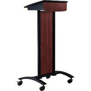 Oklahoma Sound Conversation Lectern Black Laminated Wood