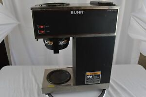 Bunn Vpr Two Burner Pourover Coffee Brewer stainless Steel black vpr