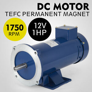Dc Motor 1 0hp 56c Frame 12v 1750rpm Tefc Magnet Smooth Grease Equipment Hot
