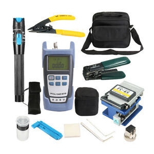 Ftth Fiber Optic Tool Kit With Optical Power Meter And Cable Cutter Stripper