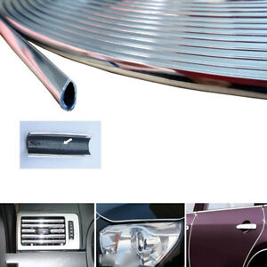 3m Car Door Trim Edge Strip Chrome Mold Scratch Guard Protector Cover Us Stock