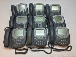 Lot Of 9 Avaya 2420 Business Telephone With Stand And Handset Tested
