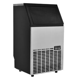 Built in Stainless Steel Commercial Ice Maker Portable Ice Machine Restaurant Us
