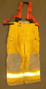 42 r Pants With Suspenders Firefighter Turnout Bunker Fire Gear Innotex P885
