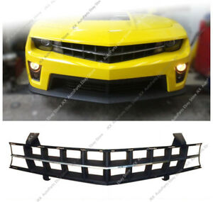 Front Bumper Upper Center Grille Vent Hole Grill For Chevrolet Camaro 2010 13