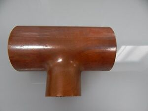 Copper Tee Fitting 3 X 3 X 2 Reducing Outlet Tee 3 Inch