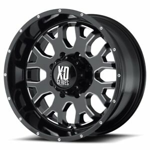 22 Kmc Wheels Xd 808 Menace Gloss Black Milled 8x170 Ford Super Duty Excursion