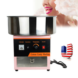 Usa Electric Cotton Candy Machine Floss Maker Commercial Carnival Party 110v