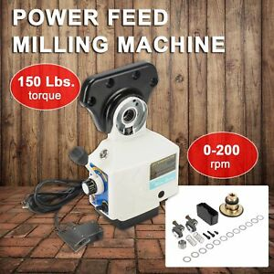0 210prm Power Table Feed Mill Fits Bridgeport Acer 110v