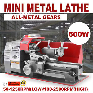 Brushless Motor Mini Metal Lathe Woodworking Tool 600w Variable Speed Machine