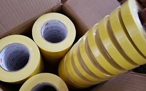 3m 06652 Crepe Paper Automotive Refinish Masking Tape 3 4 Inch 48 Pack Yellow
