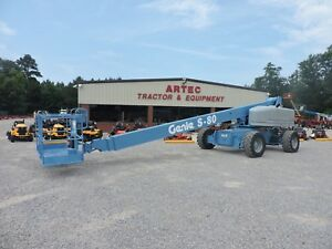 2005 Genie S80 Boom Lift Jlg 60 Reach Straight Boom Extendable Axles