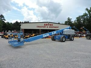 2006 Genie S80 Boom Lift Jlg 60 Reach Straight Boom Expandable Axles