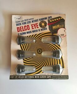 Vintage 1965 Gm Delco Eye Battery Level Store Display Chevy Nos