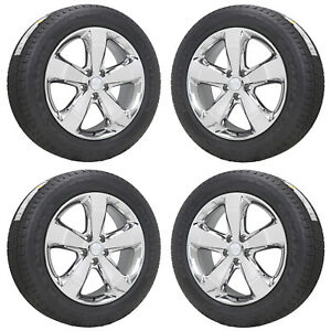 20 Jeep Grand Cherokee Overland Pvd Chrome Wheels Rims Tires Factory Oem 91374